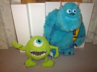 MONSTERS INC. Plush SULLEY 14 & MIKE BOTH TALK and Work HASBRO 2001