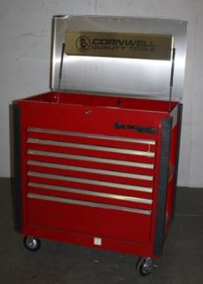 Cornwell Red 7 Drawer Mobile Work Tool Box Cart Center