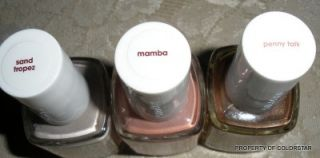 Essie Nail Polish Lacquer New 2012 Set of 3 Free Lip Shimmer Sand