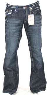 New Mens Laguna Beach Jeans Corona Del Mar Blue Stitch Boot Cut 32