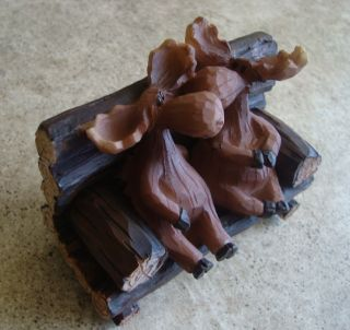 MOOSE KISSING COUPLE Park Bench Rustic Log Cabin Lodge Home Decor