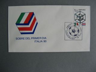 Costa Rica Cover FDC 1990 WC Soccer Football Italy