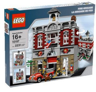 LEGO CREATOR FIRE BRIGADE House Station 10197 New Sealed in Box Ships