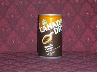 RARE VINTAGE CANADA DRY VANILLA CREAM SODA FULL 12 OZ CAN GINGER ALE
