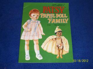 1996 Effanbee Patsy Paper Doll Family by Peggy Jo Rosamond