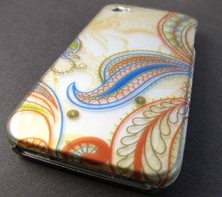 Vintage Peacock Design Hard Shell Case Cover Apple iPhone 4 4S Phone