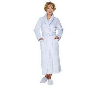 Stan Herman Wave Pattern Super Plush Wrap Robe —