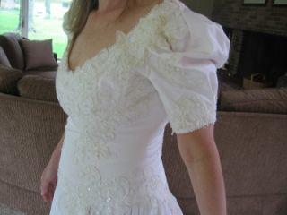 wedding cotillion prom dress vintage blush pink nwt
