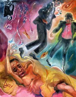 Print Michael Jackson MJ Dr Conrad Murray Scream Horror Art Painting