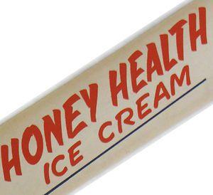 Vintage Antique Old Honey Health Ice Cream Soda Fountain Shop