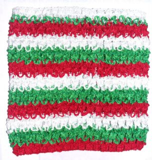 Extra Large Crochet Tutu Dress Tube Top 10x9 Red White Green