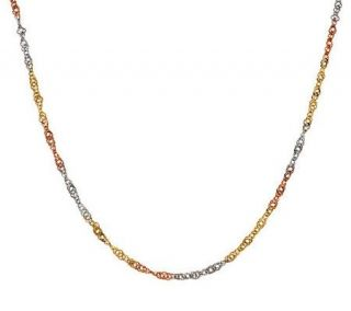 16 Diamond Cut Twisted Singapore Necklace 14K Gold, 1.2g   J275281