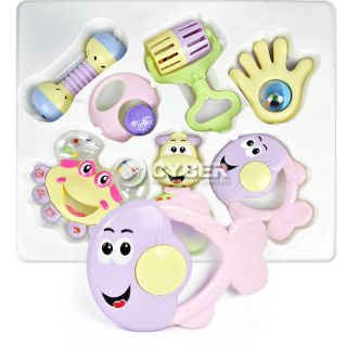 Plastic Bell Rattle Toddlers Pram Crib Music 7pcs Set Toy DZ88