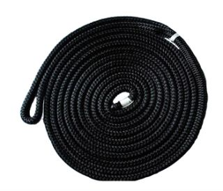 New 25x1 2 Dock Lines for Boat Double Braided Black Mooring Rope