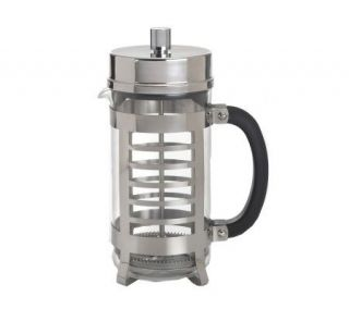BonJour 8 Cup Linear French Press in Polished Stainless Steel