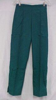 Scrub Pants Hunter Green Crest Scrubs Slim Cut XS 161