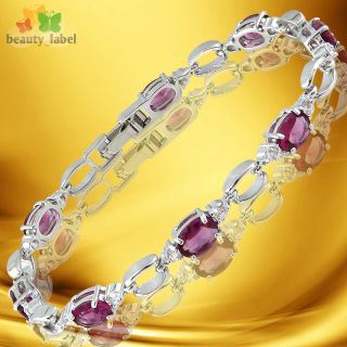 Fashion Lady Jewelry Fashion Jewelry Purple Amethyst White Gold GP