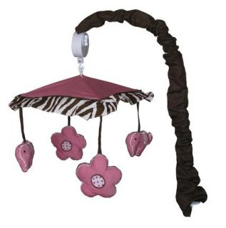 Musical Mobile for Pink Zebra Baby Crib Bedding by Sisi Baby Design