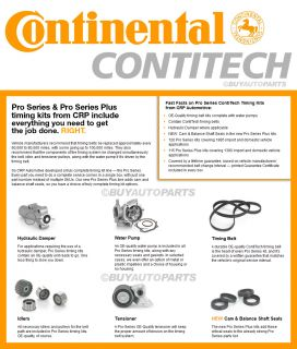 BRAND NEW GENUINE OEM CONTINENTAL PRO TIMING BELT KIT   CHRYSLER DODGE
