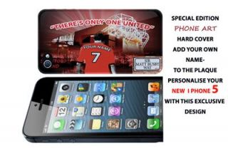 personalised manchester united fc iphone 5 hard case