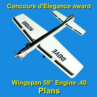 Control Line Stunt Model Airplane Plans Building Notes