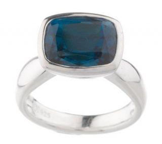Sterling 4.70 ct tw Cushion Cut London Blue Topaz Ring —