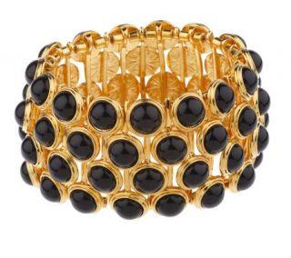 Linea by Louis DellOlio Black Bead Stretch Bracelet   J154281