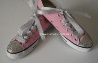 Light Pink Convers Featuring Clear Swarovski Cystals Toddler Kids