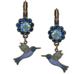Kirks Folly Happy Hummingbird Lever Back Earrings —