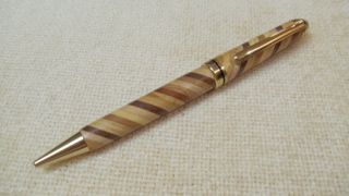 Handmade Wooden Pen with Cross Workings