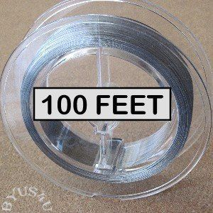 Tigertail Beading Wire Nylon Coated Stainless Steel 100 Foot Spool