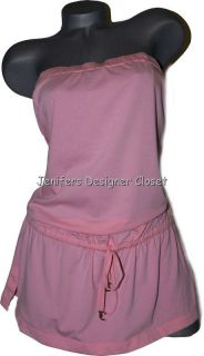 Juicy Couture Pink Swimsuit Coverup Dress Bandeau L Strapless Designer