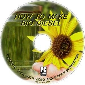 Make Bio Diesel Fuel from Waste Cooking Fat Oil CD ROM Clean Fuel Save