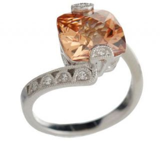 Tacori IV Diamonique Epiphany Champagne Crescent Ring —