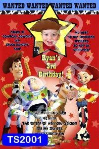 custom toy story cowboy birthday invitation thank u scroll down for