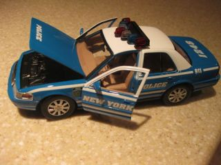 NYPD New York City Die Cast Police Department Car Ford Crown Victoria