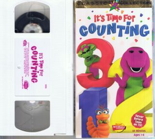 Barney Its Time for Counting VHS SS Ages 1 8 50 MIN