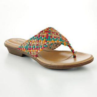 Croft Barrow® Sole Sense Ability Serena Multi Color Thong Sandals 7 5