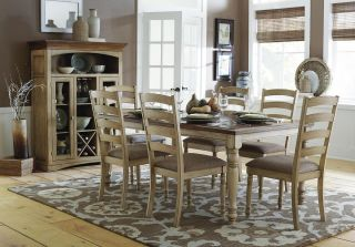CASUAL COUNTRY SOLID WOOD DINING TABLE & CHAIRS DINING ROOM FURNITURE