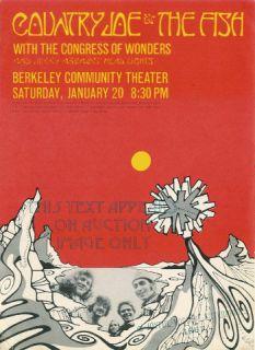 COUNTRY JOE & the FISH   1967 Handbill   Original   Artist Tom Weller