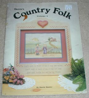 Country Folk Vol 4 Tole Painting Book Darcie Hunter 1989