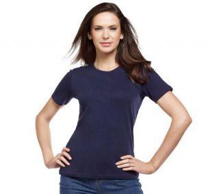 Liz Claiborne New York Essentials Short Sleeve Crew Neck Tee