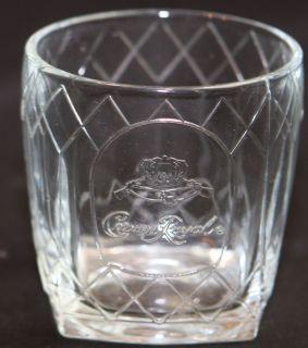 Vintage Crown Royal Whiskey Cocktail Rocks Tumbler Glass