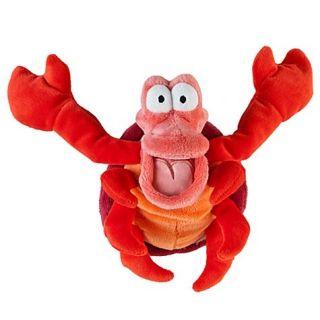 Mermaid Sebastian Stuffed Plush Mini Bean Doll Crab Red New