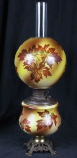 L344 Antique Edward Miller Juno Hand Painted Glass Gone with The Wind