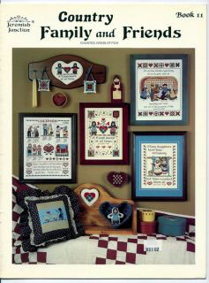 Jeremiah Junction Country Family Friends Cross Stitch