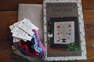 Blackbird Designs Counted Cross Stitch Strawberry Garden Kit with