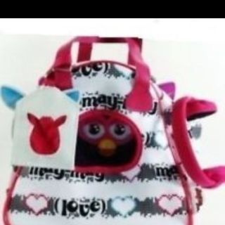 Brand New 2012 Furby White Pink Sling Bag Fashion Carrier