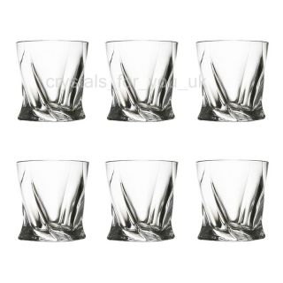 Beautiful 6x crystal whisky glasses Quadro, set whiskey glass bottle