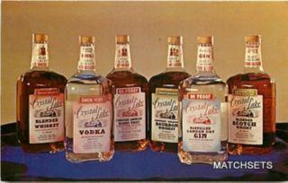 Crystal Lake Blended Whiskey Vodka Bourbon Scotch Interior Postcard